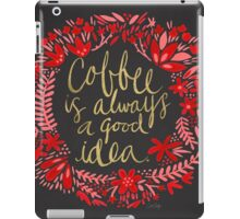Coffee on Charcoal iPad Case/Skin