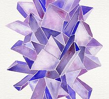 Watercolor Amethyst by Cat Coquillette