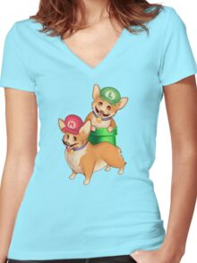 Plumber Pups Women's Fitted V-Neck T-Shirt