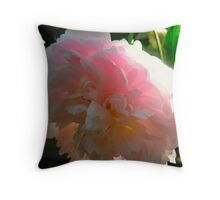 Flourescent Peony Throw Pillow