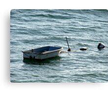 Alone On The Sea Canvas Print