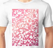 Jumble of Triangles in Red Unisex T-Shirt