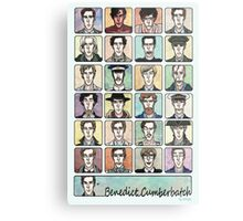Benedict Cumberbatch Faces Metal Print