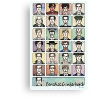 Benedict Cumberbatch Faces Canvas Print