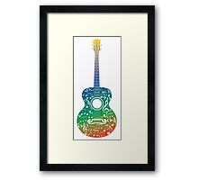 Guitar and Music Notes 6 Framed Print