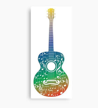 Guitar and Music Notes 6 Canvas Print