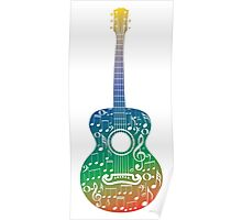 Guitar and Music Notes 6 Poster