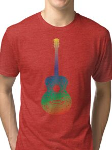 Guitar and Music Notes 6 Tri-blend T-Shirt