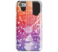 Guitar and Music Notes 7 iPhone Case/Skin