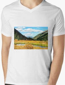 Autumn Lake in the Rockies Mens V-Neck T-Shirt