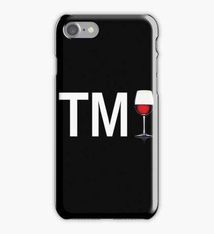 TM Wine (White Ink/Red Wine) iPhone Case/Skin