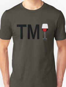 TM Wine (Black Ink/Red Wine) Unisex T-Shirt