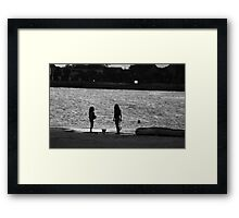 Sunset Girls Framed Print