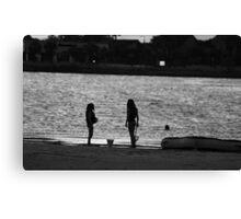 Sunset Girls Canvas Print