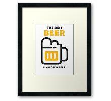 The Best Beer Framed Print