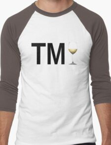 TM Wine (Black Ink/White Wine) Men's Baseball ¾ T-Shirt