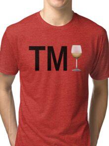 TM Wine (Black Ink/White Wine) Tri-blend T-Shirt