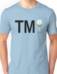 TM Wine (Black Ink/White Wine) Unisex T-Shirt