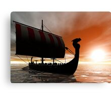 Viking Sunset Canvas Print