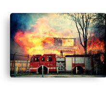 Detroit Fire Department  Canvas Print