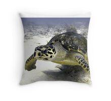 Caribbean Sea Turtle Throw Pillow