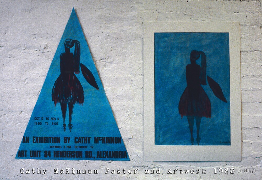 Cathy McKinnon poster with artwork by ArtUnit