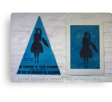 Cathy McKinnon poster with artwork Canvas Print