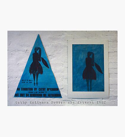 Cathy McKinnon poster with artwork Photographic Print