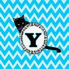 Y Cat Chevron Monogram by gretzky