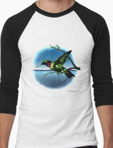 Hummingbird Heaven Men's Baseball ¾ T-Shirt