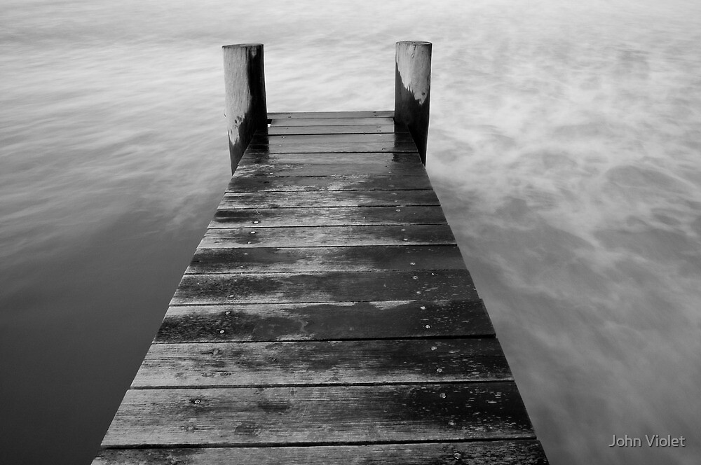 Jetty and Sea by John Violet