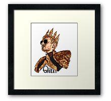 Queen Bill - Black Text Framed Print