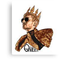 Queen Bill - Black Text Canvas Print
