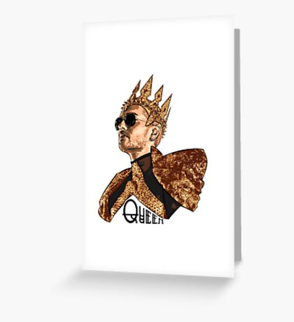 Queen Bill - Black Text Greeting Card