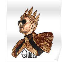 Queen Bill - Black Text Poster