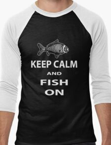 Keep calm and fish on Men's Baseball ¾ T-Shirt