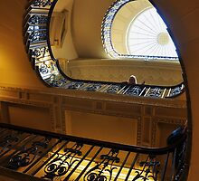 Blue Balustrade  by Karen E Camilleri