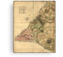 A Plan of the City of New York Map (1776) Canvas Print