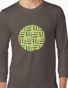Green hatch on yellow Long Sleeve T-Shirt