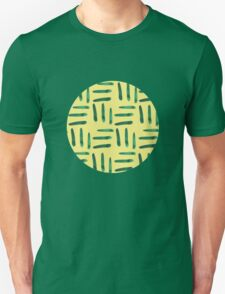 Green hatch on yellow Unisex T-Shirt