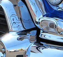 1955 GMC Pickup Street Rod Chrome Bumper - Liquid Metal by RustedStudio