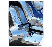 1955 GMC Pickup Street Rod Chrome Bumper - Liquid Metal Poster