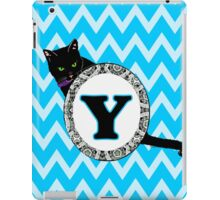 Y Cat Chevron Monogram iPad Case/Skin