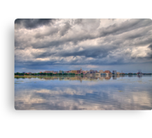 Storm Over the Capital Canvas Print
