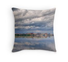 Storm Over the Capital Throw Pillow
