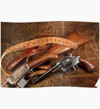 Pistol, Rifle, Holster and Belt Poster