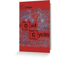 Cycling T Shirt - Road Cyclist Greeting Card