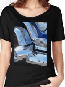 1955 GMC Pickup Street Rod Chrome Bumper - Liquid Metal Women's Relaxed Fit T-Shirt