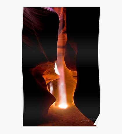 Double Beam, Upper Antelope Canyon Poster