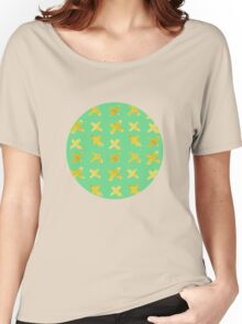 Yellow cross on green Women's Relaxed Fit T-Shirt